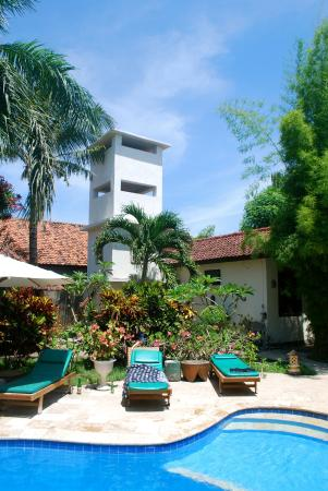 Rumah Saga: pool side and gardens