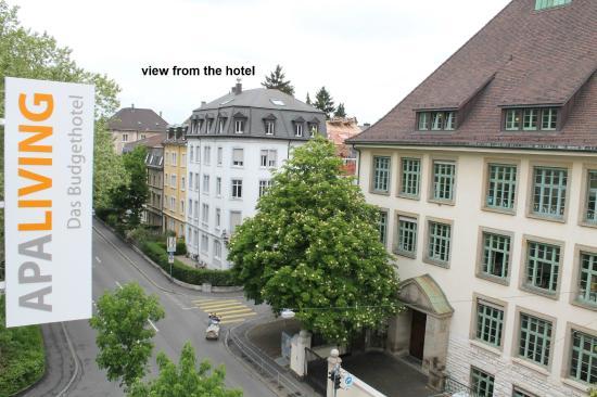 Apaliving Basel - Budget Hotel: Sicht aus dem Hotel