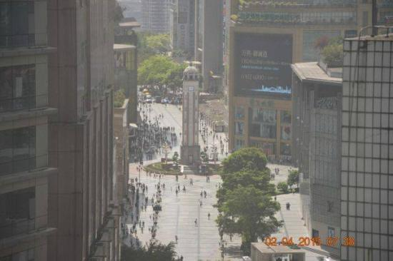 Somerset Jiefangbei Chongqing: View from 17th floor to the Chongqing People's Liberation Monument