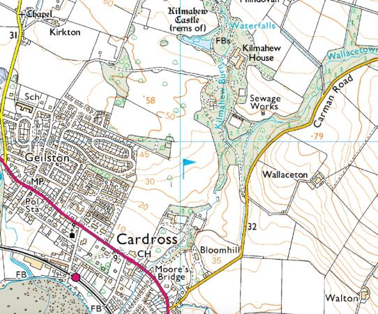 Cardross, UK: Map