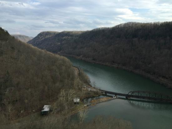"View of the New River from ""Lover's Leap"", Hawks Nest State Park Lodge, Ansted, West Virgini"