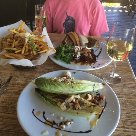 Public House: Romaine wedge, truffle fries and cheese plate