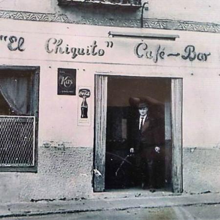 bar el chiquito: Antigua fachada del Bar hace décadas.