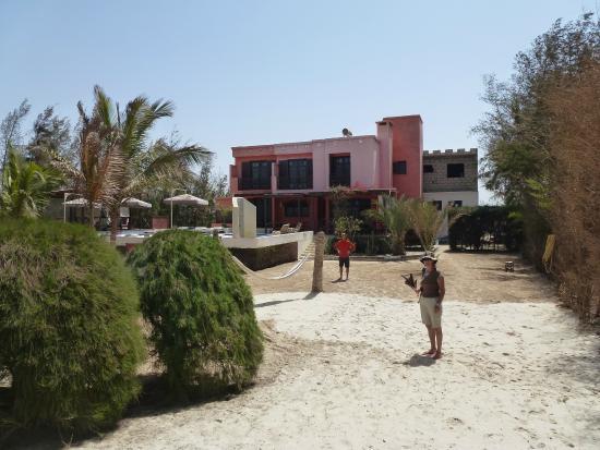 Chambres d'hotes NIOKOBOKK : Vue de l'hôtel depuis la plage