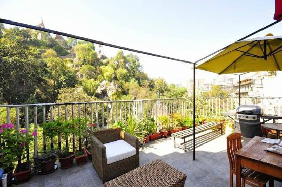 Hostel Lucia Suites: Vista del Cerro Santa Lucia desde nuestra terraza