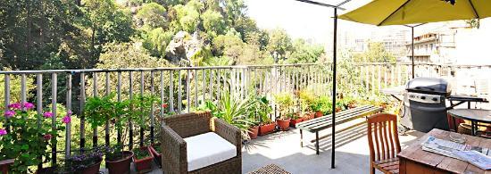 Hostel Lucia Suites: Vista desde nuestra Terraza al Cerro Santa Lucia
