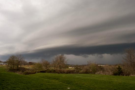 Super 8 Bedford: Rear facing shot as storm approaches on 4/8/15