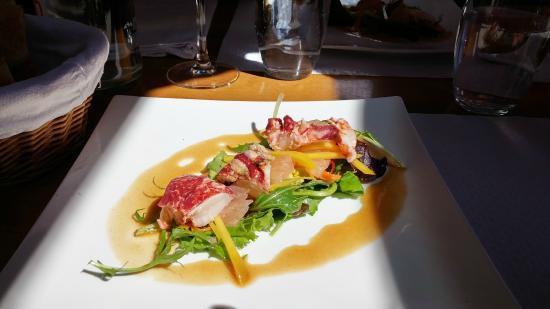 Auberge La Fontaine du Berger : Salade de homard