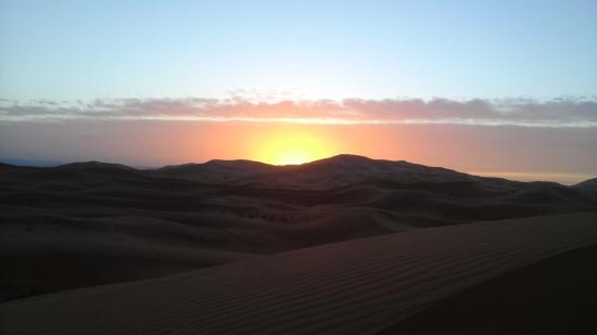 Auberge Dunes D'or: lever de soleil