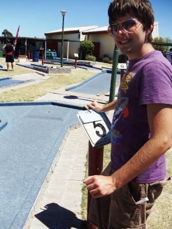 Langebaan, Zuid-Afrika: Minigolf happiness