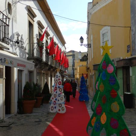Old Town Faro : little cardboard trees
