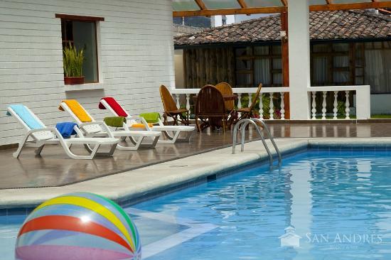 San Andres Lodge & Spa: Piscina cubierta con calentamiento solar