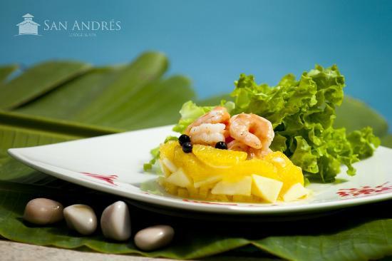 San Andres Lodge & Spa: Ensalada pasión de camarones
