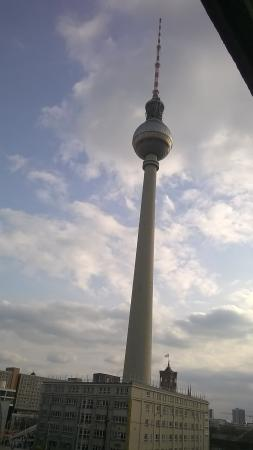 Alexanderplatz Apartments: View from the window - a symbol of the former division of the city.