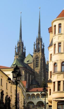 Brno, République tchèque : View of Cathedral