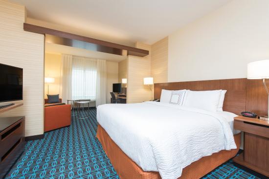 Studio King Suite at your Fairfield Inn & Suites by Marriott Hotel in Fredericksburg, Texas