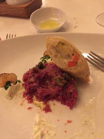Wein am Rhein: Wonderful steak tartare, don't miss it !