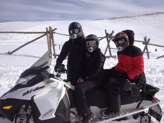 Austria Haus Hotel: Snowmobiling with NOVA guides