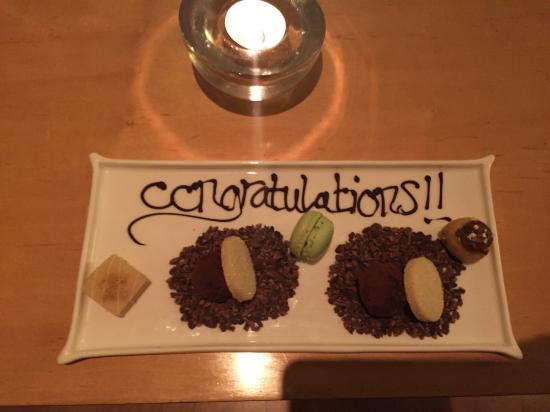 Driftwood Hotel: A wonderful surprise from the staff after dinner!