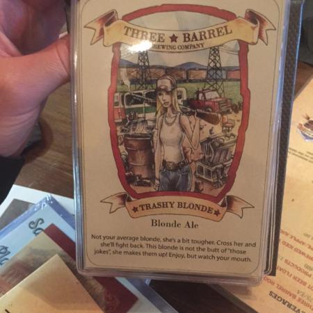 Three Barrel Brewing Co: Trashy Blonde -really cute artwork