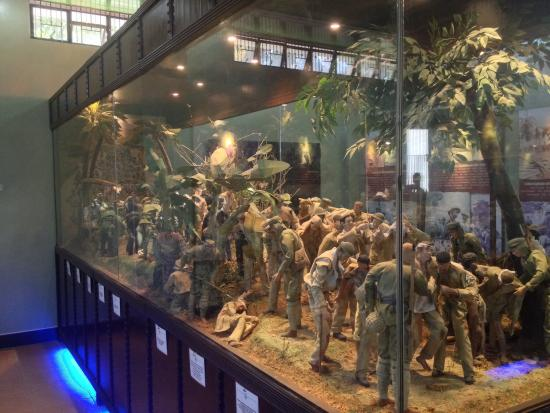 Balanga City, Filippinene: Bataan Death March Diorama