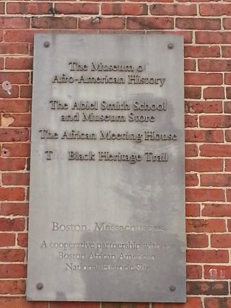 Museum of African American History: African Meeting House Historical Marker