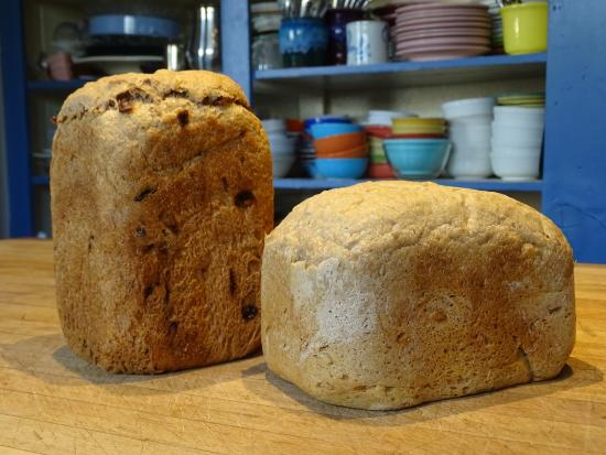 The Black Range Lodge: Fresh organic bread is served at breakfast.