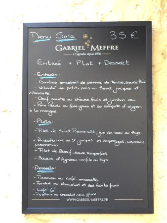 Restaurant Le G' envie : Menù