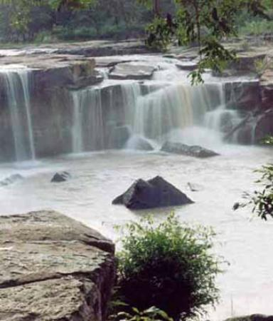 Chaiyaphum, Thailandia: The waterfalls in September