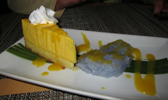 Urban Thai : Mango mousse with lavender sticky rice