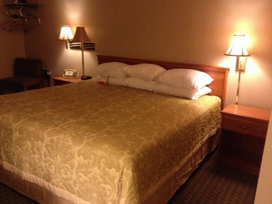 Super 8 Coeur d'Alene: King sized bed...the most comfortable motel mattress that I've slept on.