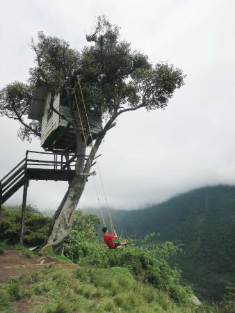 6f5103fe6 Swing at the End of the World - Picture of La Casa del Arbol, Banos ...