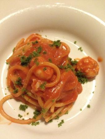 Al Bagatto : Spaghetti mit Scampi und Tomatencreme