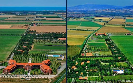 Fattoria La Principina Hotel: Vista dall'alto