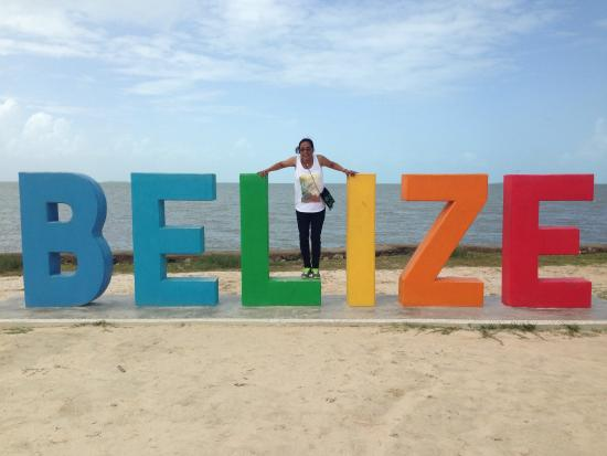 Princess Hotel & Casino Free Zone: Belize sign, when first strive in Belize, must take photo there