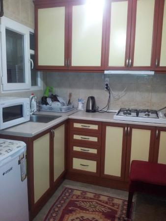Falcon Apart Hotel: Kitchen