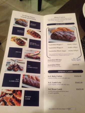 Maria S Steak Cafe Menu
