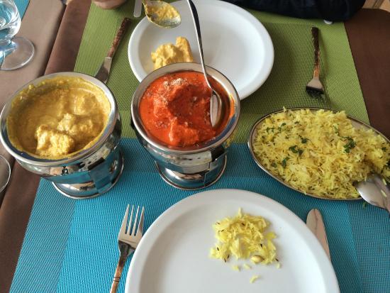 tikka massala korma y arroz pilau picture of indian. Black Bedroom Furniture Sets. Home Design Ideas