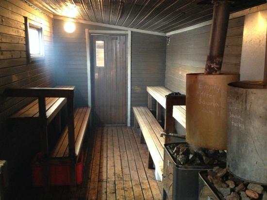 sauna picture of camp alta kiruna tripadvisor. Black Bedroom Furniture Sets. Home Design Ideas