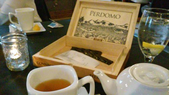 Greystone Restaurant: The tab was presented in an old cigar box...what a nice touch!
