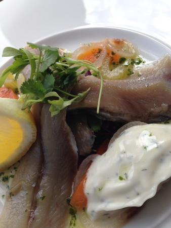 """Taylor's Restaurant: Soused """"Nicola May"""" Herrings with Dill Mayonnaise & soused Vegetables"""