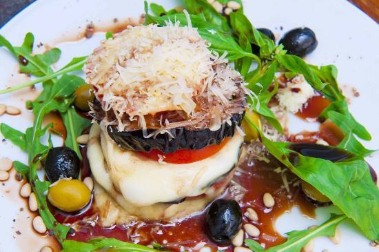 Sok Cafe : баклажан с сыром