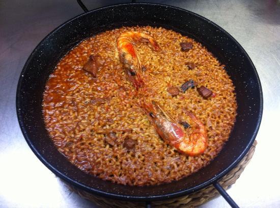 Restaurant Nàutic Garraf: Arrós sec de gamba vermella de Vilanova