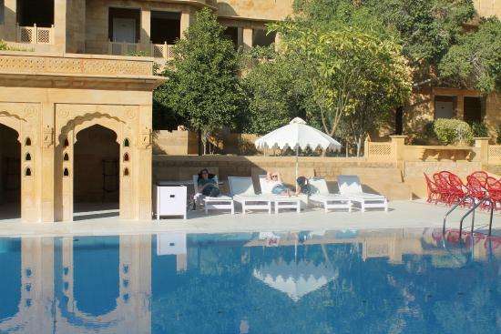 Am Pool Picture Of Hotel Rang Mahal Jaisalmer Tripadvisor