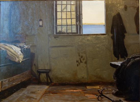 The Hirschsprung Collection (Den Hirschsprungske Samling): Christen Dalsgaard: A Fisherman's Bedroom