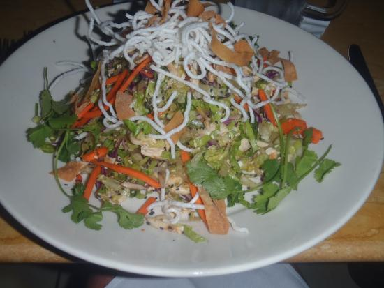 The Cheesecake Factory: Skinny Grilled Chicken Salad with crispy noodles