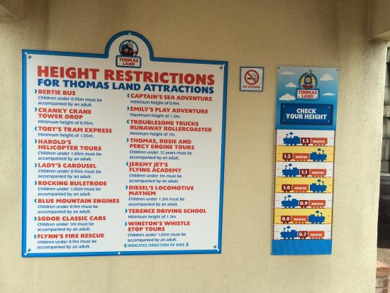 Tamworth, UK: Check this before choosing at Thomas Land. We had no idea our toddler would not be able to go on