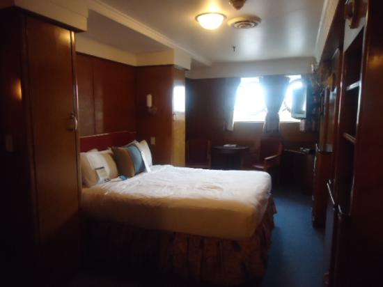 Our Mini Suite Bedroom Queen Size Bed Picture Of The Queen Mary