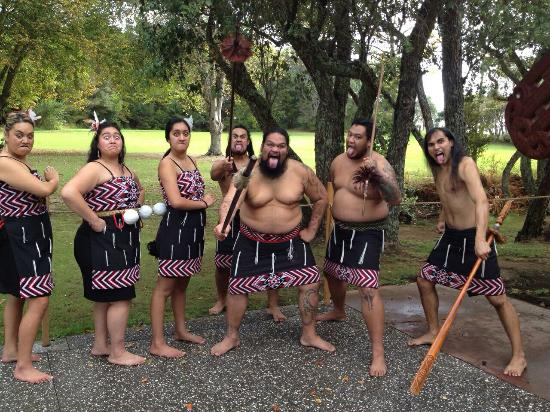 Paihia, Nueva Zelanda: Photo of performers after the show.