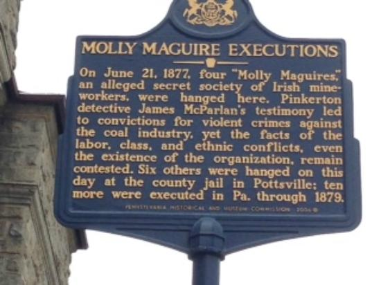 Jim Thorpe Memorial: Molly Maguire Information Sign